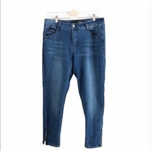 Thorn Skinny Ankle Zip Hi-Rise Jeans. Size 14